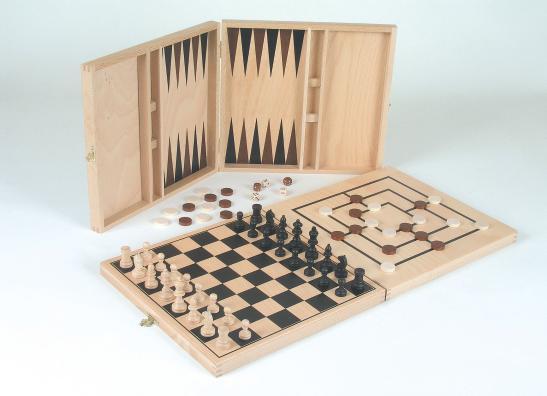 schach sets schach dame backgammon set aus holz. Black Bedroom Furniture Sets. Home Design Ideas