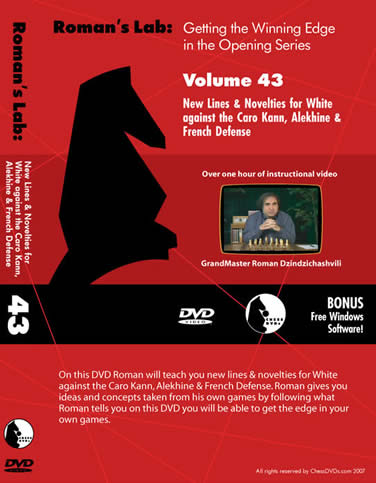 Vol.43 Novelities for Caro-Kann, Alekhine, French