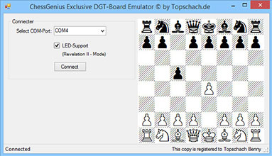 ChessGenius Exclusive DGT Board Emulator