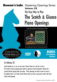 Vol.22 The Scotch & Giuoco Openings