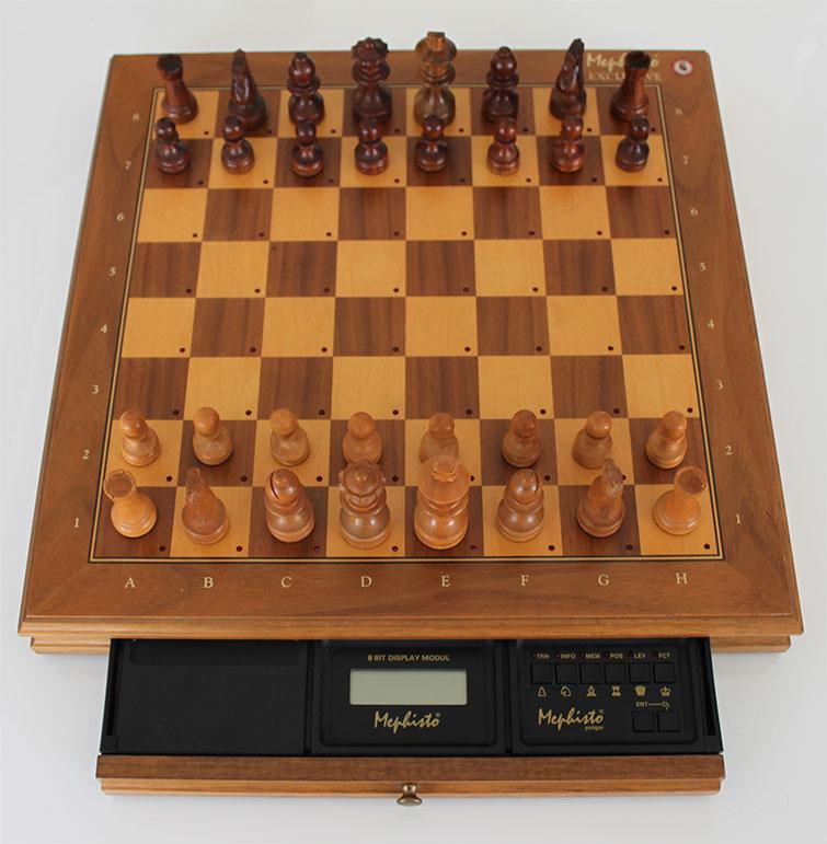 original Koffer BK650 für den Mephisto Exclusive Schachcomputer mit Schlüssel