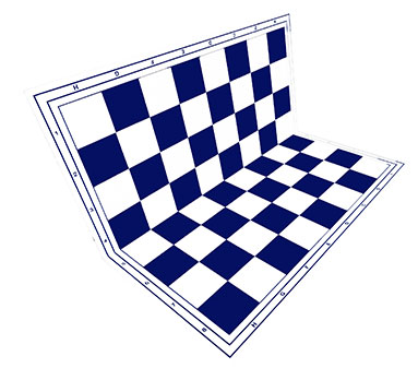 Chessboard blue foldable