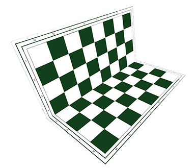 Chessboard green foldable
