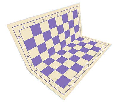Chessboard purple foldable
