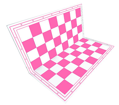 Chessboard pink foldable