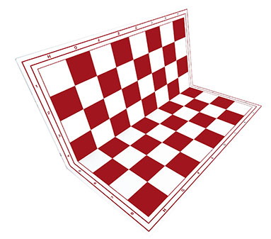 Chessboard red foldable