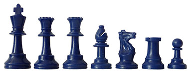 Chess Pieces blue
