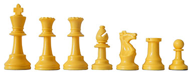 Chess Pieces yellow