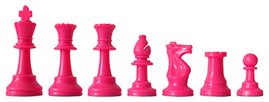 Chess Pieces pink