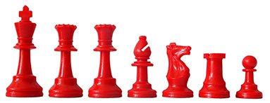 Chess Pieces red