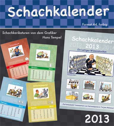 Schachkalender 2013 Cartoon