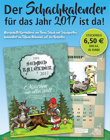 Schachkalender 2017 - Cartoon