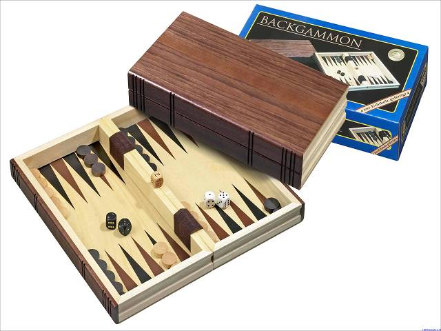 Backgammon-Kassette Medium aus Holz