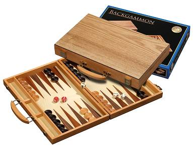 Backgammon Koffer Kreta