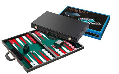Backgammon Koffer Kunstleder Turnier